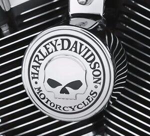 Harley-Davidson-OEM-NEW-Willie-G-Skull-Horn-cover-Softail-Dyna-Touring-FLHX