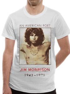 The-Doors-Jim-Morrison-American-Poet-Official-Rock-Music-White-Mens-T-shirt