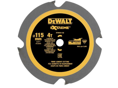 DeWalt DT20421-QZ 115 x 9.5 mm 4 T PCD Lame de scie