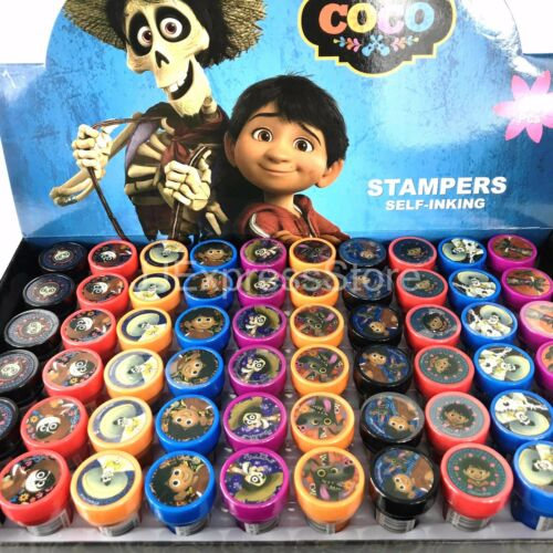 Disney COCO Self-Inking Stamps Stampers Pencil Topper Birthday Party Favor