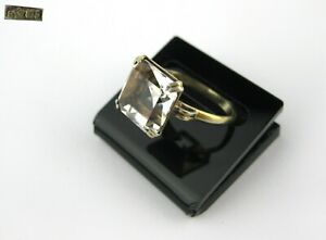 gold plated 1980s. made in USSR Vintage sterling silver ring