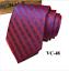 Classic-Red-Black-Blue-Mens-Tie-Paisley-Stripe-Silk-Necktie-Set-Wedding-Jacquard thumbnail 58