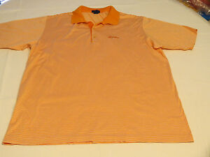 Mens-Jeff-Rose-L-cotton-made-in-Italy-short-sleeve-polo-shirt-casual-orange-EUC