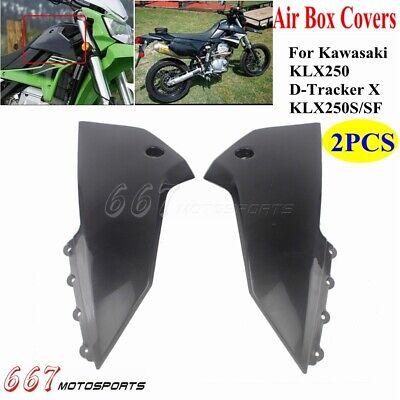 Motorcycle Dirt Bike Rear Side Covers For Kawasaki KLX250 D-Tracker X KLX250S//SF