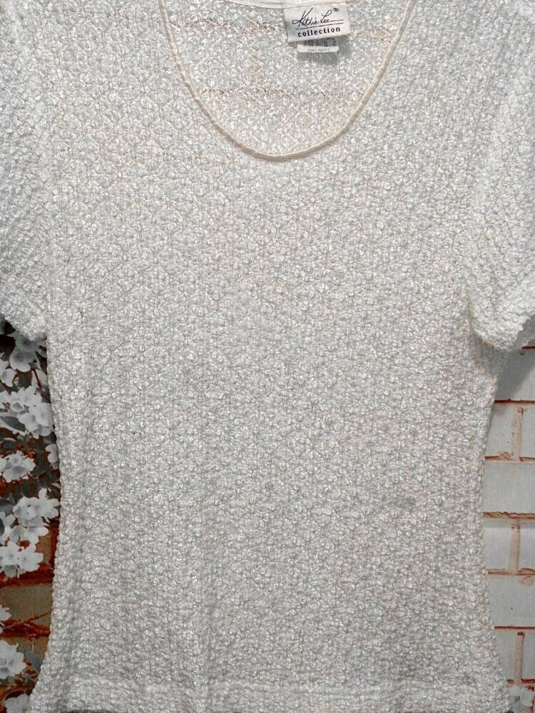 Cream Knit Top Light Sweater size Large Pre-Owned