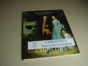 CHRISTIE-S-Auktionskatalog-Important-British-Art-10-Juni-June-1999