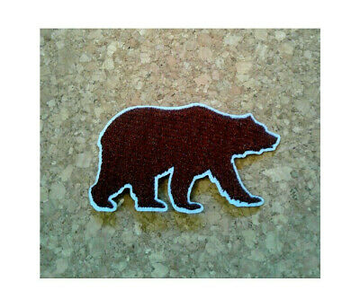 Seal Brown Embroidered Iron On Patch