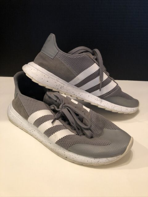 Adidas Womens Size 9 Gray White Stripes Running Shoes