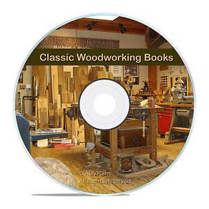 Classic Old Wood & Woodworking Books, falegnameria, tornio tornitura, finitura CD V10