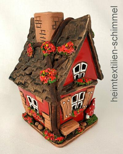Teelichthaus Dufthaus Lichthaus Leuchthaus Dufthäuschen Keramik Deko Häuschen