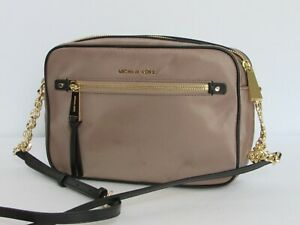 b9e96157b517 Image is loading NEW-Michael-Kors-Polly-Large-Messenger-Crossbody-Dune-