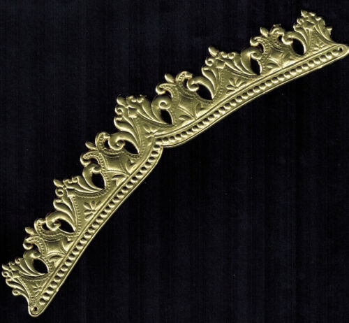 CROWN GOLD DIADEM HEADBAND ORNATE TIARA NARROW GERMAN DRESDEN EMBOSSED FOIL