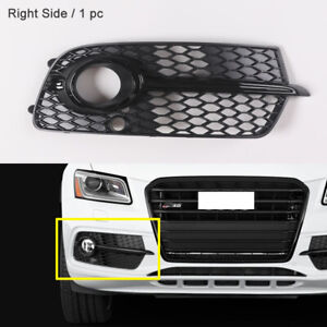 Front-Right-Side-Grille-Black-Fog-Lamp-Cover-Trim-Fit-For-Audi-Q5-S-Line-2013-16