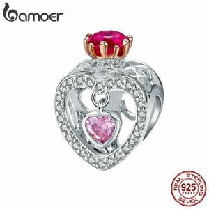 BAMOER-Women-S925-Sterling-silver-Charms-Inborn-queen-amp-CZ-Fit-Women-Bracelets