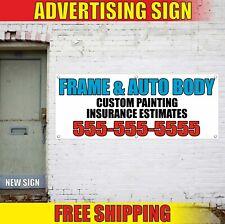 Auto Body Banner Advertising Vinyl Sign Flag Repair Service Collision Shop Frame