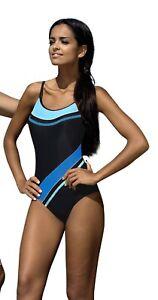 Women One Piece Racerback Swimming Costume Swimwear Size UK 8 10 12 14 16 18
