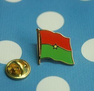 Burkina-Faso-Afrika-Pin-Button-Badge-Anstecker-Flaggenpin-geschwungen-emailliert