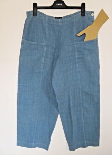 clair Quirky Boho bleu taille Arty 4pantalon 100linLagenlook Oska RL54Aj3