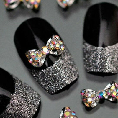 1Pcs 3D Nail Art Decoration Multicolor Alloy Jewelry Glitter Rhinestone DIY New