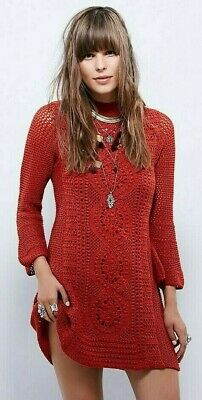 NWT Free People Rosalind Swit Crochet Dress Retail $168