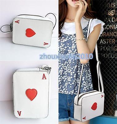Playing Card A Shape Single Shoulder Bag Handbag Alice In Wonderland kawaii Art