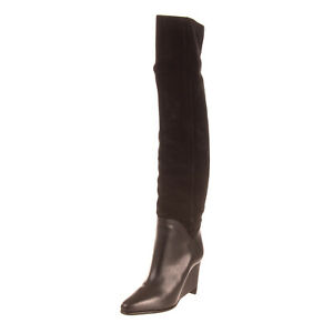 RRP-850-MAISON-MARGIELA-Leather-Over-Knee-Boots-Size-37-5-UK-4-5-US-7-5-Heel