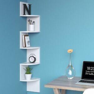 Libreria Angolare Moderna.Dettagli Su Mensola Moderna A Muro Angolare Libreria Porta Cd Scaffale Ad Angolo In Legno