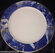 "ROSENTHAL CONTINENTAL R2748 12 1/8"" SERVICE PLATE CHARGER BLUE RIM EPOQUE"