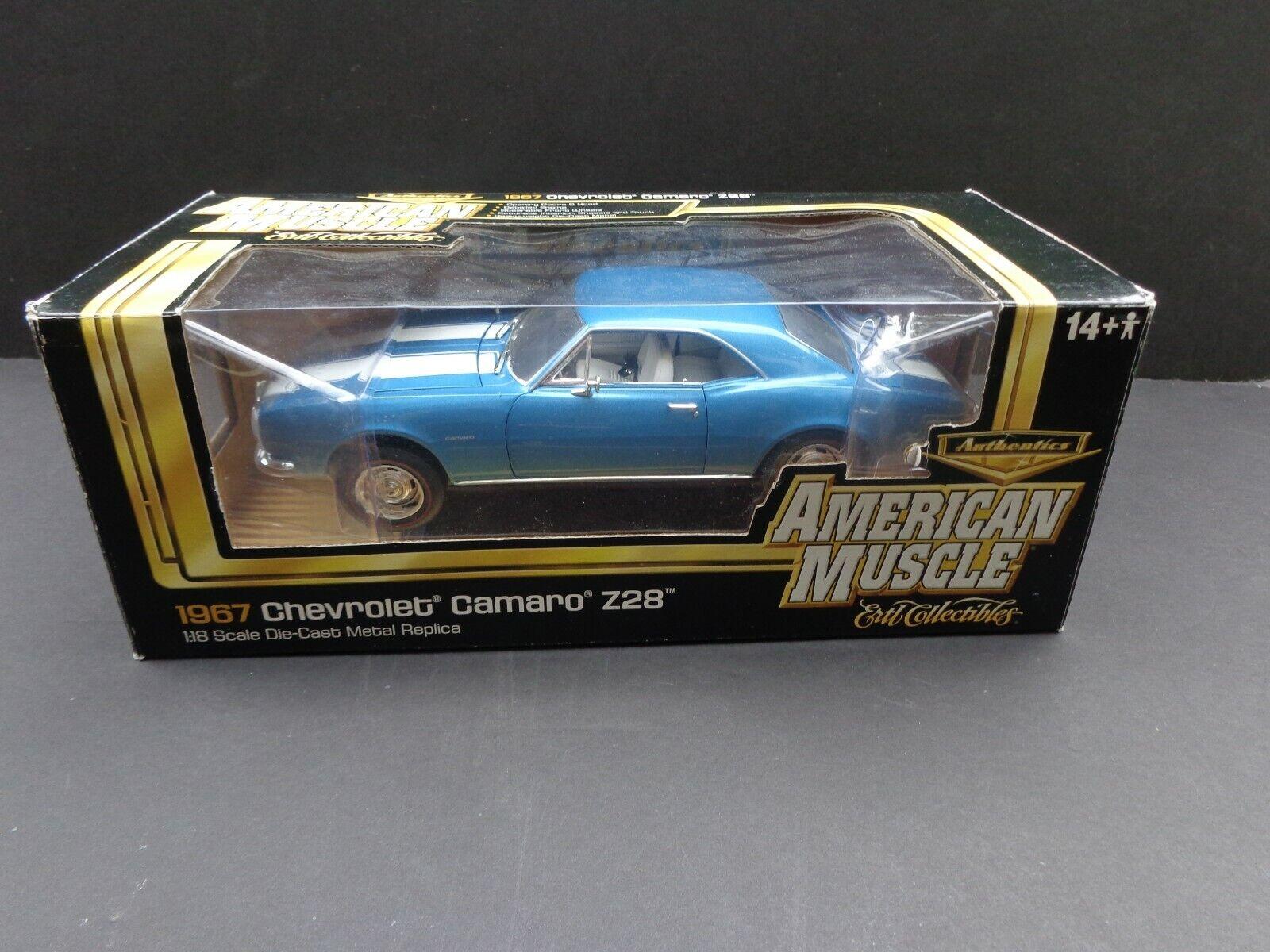 1967 Chevy Camaro Z 28  Lemans Blau  Hard Top Coupe ERTL American Muscle