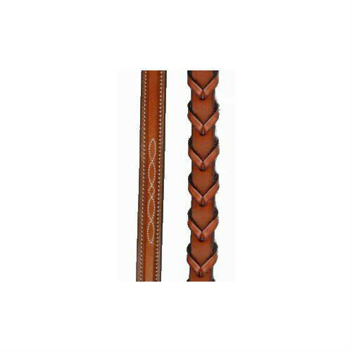 """60/"""" Oiled Newmarket NEW Edgewood Fancy Stitched Extra Long Reins"""