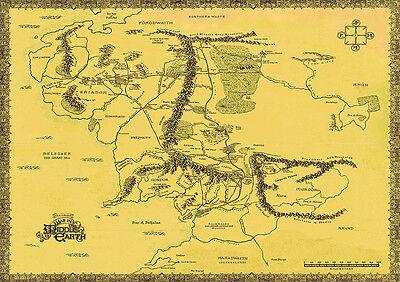 Middle Earth Map Large.Hobbit Karten Collection On Ebay