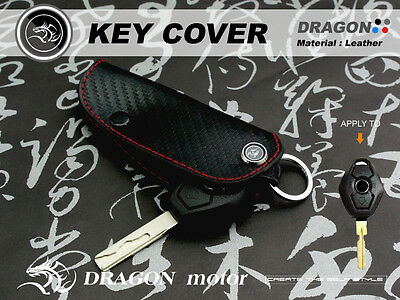 Leather Key fob Holder Case Chain Cover FIT For BMW E61 E53 E85 E36 E46 031B