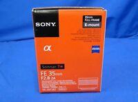 Sony SEL35F28Z Sonnar T* FE 35mm F2.8 ZA Zeiss Lens Japan Domestic Version New