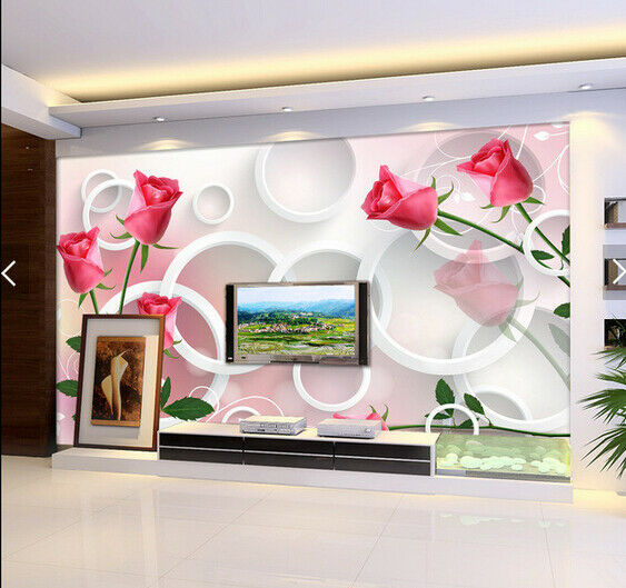 3D pink Ring 5168 Wall Paper Wall Print Decal Deco Indoor Wall Mural CA