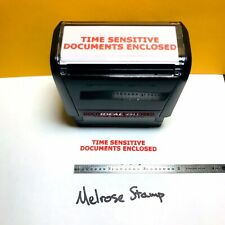 Time Sensitive Documents Enclosed Rubber Stamp Red Ink Self Inking Ideal 4913