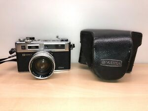 AS IS Yashica Electro 35 GSN Color-Yashinon DX 1:1.7 Japan with Case