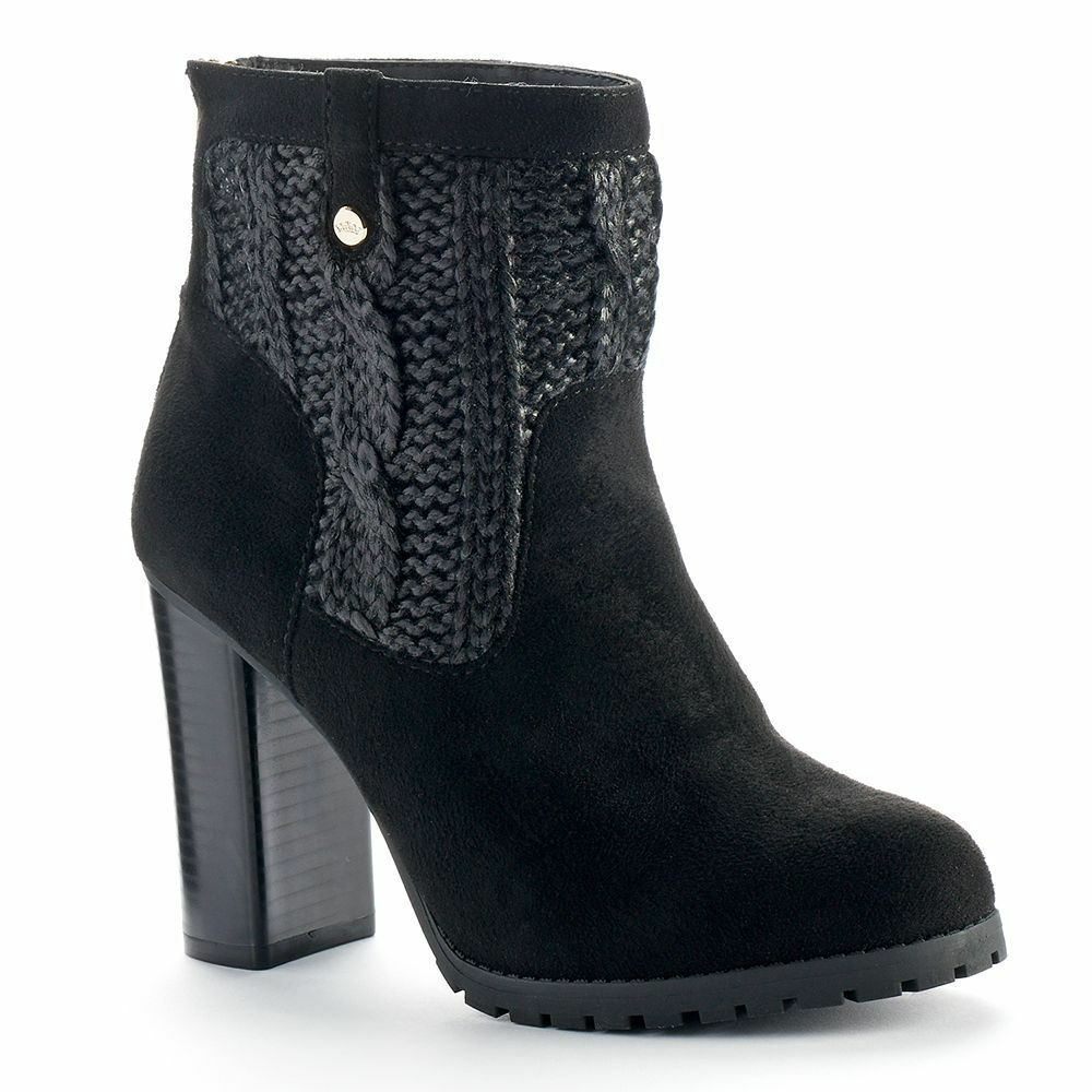 NIB Authentic Women's JUICY COUTURE High Heel Sweater Ankle Boots Choose