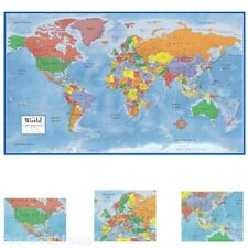 48x78 maps world classic premier wall map mega poster laminated ebay 48x78in huge rolled world map poster size wall decoration large map of the world gumiabroncs Image collections