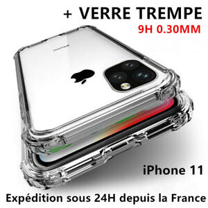AntiChoc-Coque-Verre-Trempe-iPhone-11-Pro-MAX-XS-XR-6S-7-8-Gel-Case-Protection