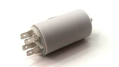 AIR COMPRESSOR PLASTIC ROUND RUN CAPACITOR 18µF 18UF 400-500V 4 TERMINALS