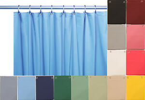 """Deluxe Heavy Weight 100/% Vinyl Shower Curtain Liner 70/"""" x 72/"""" Navy Blue Color"""