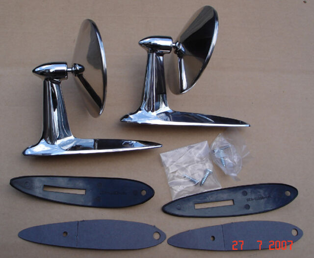 Classic American Style Longbase Door Wing Mirror PAIR