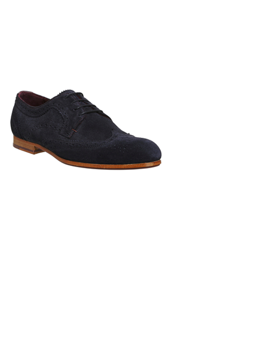 Mens Ted Baker Granet Brogue Dark 9 Blue Suede Size UK 9 Dark - a5ddcb