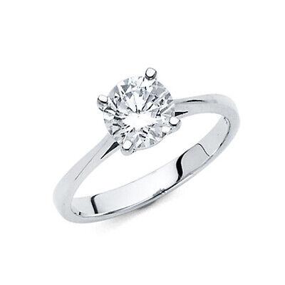 Round Cut Basket Set 1 25 Ct Cz Engagement Ring In 14k White Gold