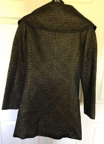 Textuted Metallic Blazer 6 Credibility Drobnick Sheri Topper Sz By Coat 04SwtI