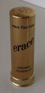 Max Factor Erace Cover Up Concealer Fair Make Up Gold Metal Tube Vintage OLD
