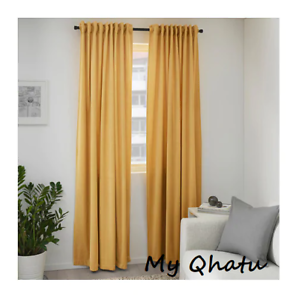 Ikea Sanela Curtains Golden Brown 55 X 98 Quot Velvet 1 Panel
