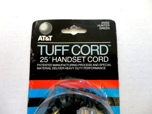 25ft HUNTER GREEN 25/' AT/&T Modular Coiled Telephone Handset Cord UL//CSA Listed