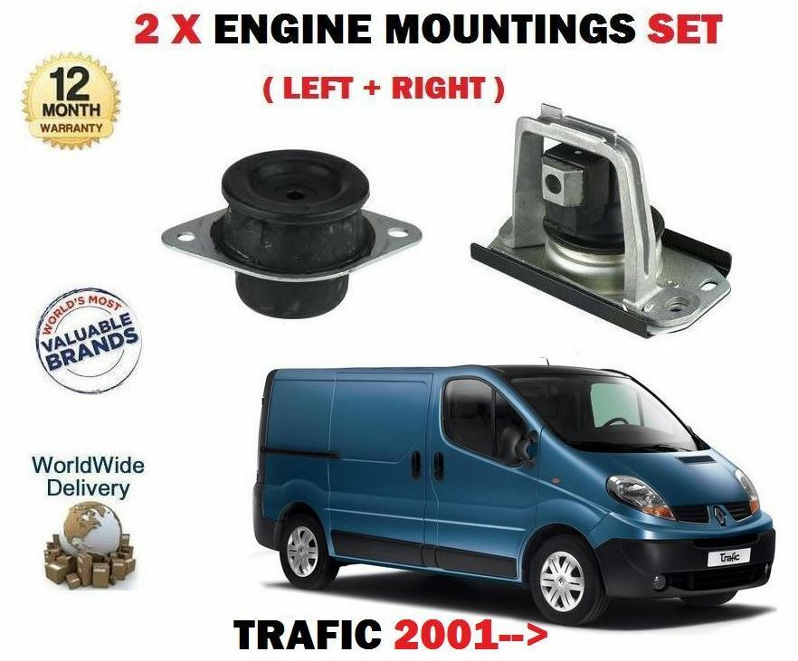 For RENAULT TRAFIC   Van 2001  NEW LEFT RIGHT 2 X Engine Fixing Kit