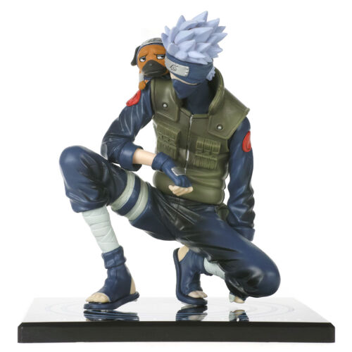 Naruto Figur von Kakashi Hatake mit Pakkun Nin-Ken Hund Sammlung